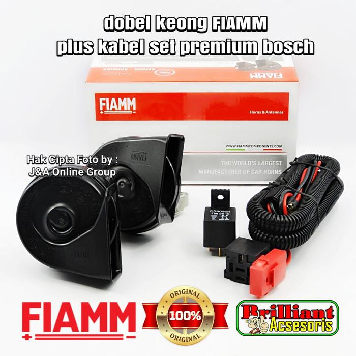 harga Klakson keong dobel fiamm plus kabel set bosch Tokopedia.com