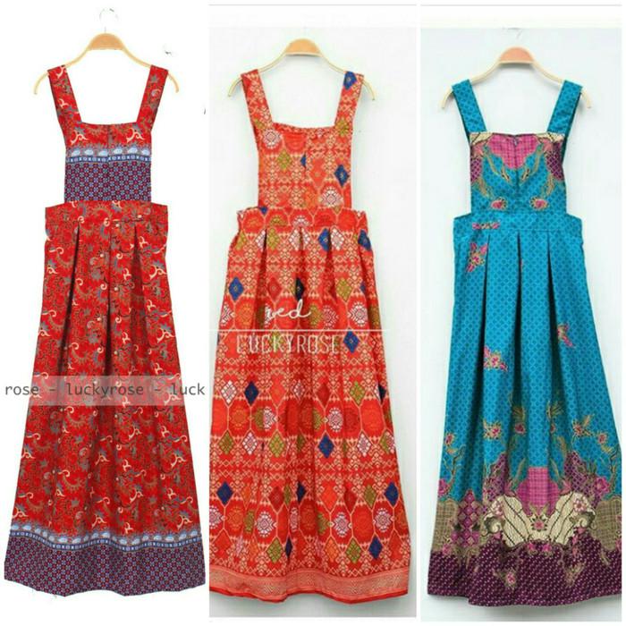 Jual Overall Batik Overall Rok Batik Jumpsuit Rok Baju Kodok Maxi Dress Jakarta Selatan Perfect Marketplace Tokopedia