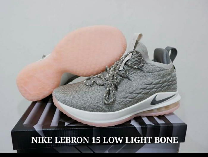 d4ec8164e29 Jual SEPATU NIKE LEBRON 15 LOW LIGHT BONE - LobabaSports
