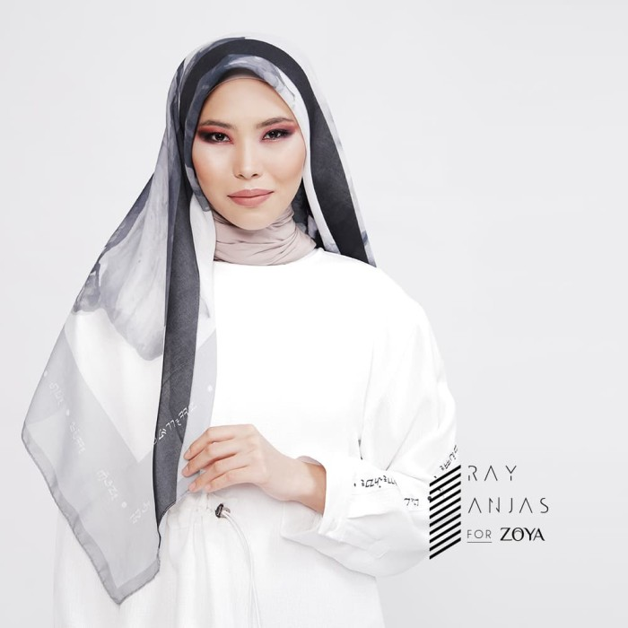 ray anjas for zoya - kerudung segi empat cantik - prasheila scarf