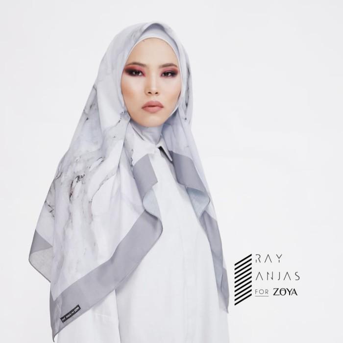 ray anjas for zoya - kerudung segi empat cantik - trisha scarf