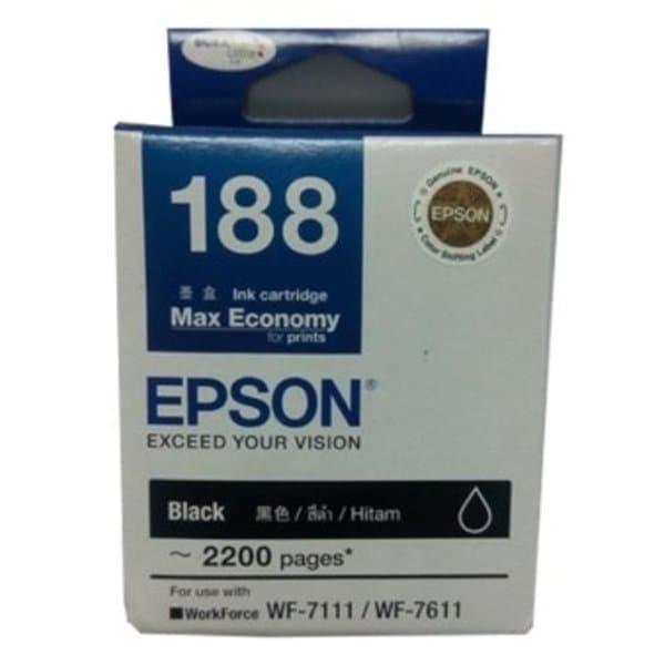 Tinta Epson T 188 WF 7111 WF 7611 Black