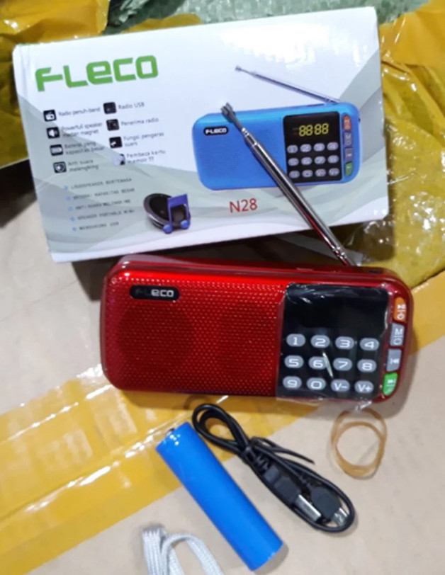 harga Portable all in 1 radio music box kotak musik mp3 player speaker fleco Tokopedia.com