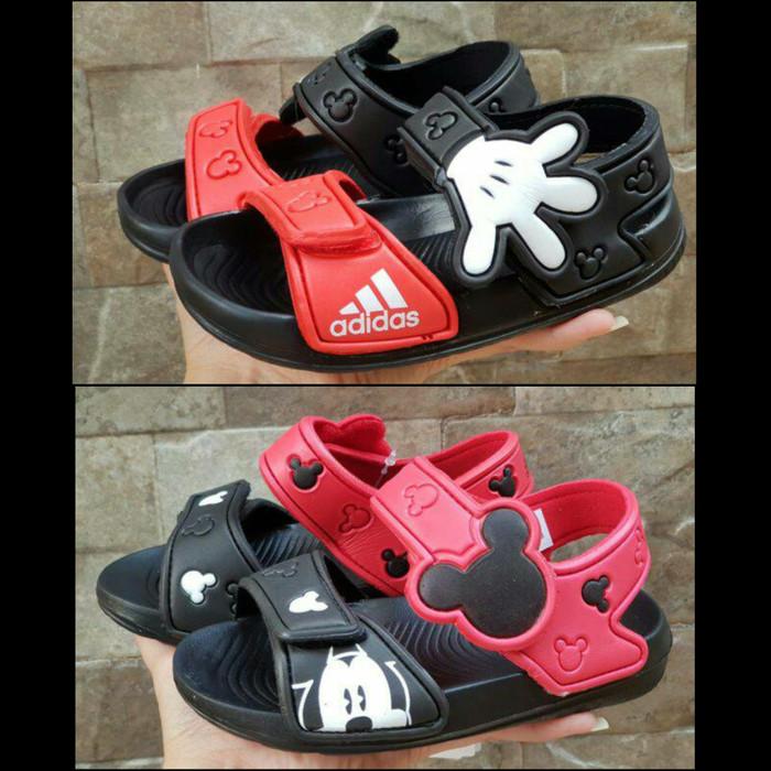 big sale 7c729 ece1f Sandal Mickey Mouse Adidas Anak Import Sandal Adidas Mickey Murah - 30,  Hitam