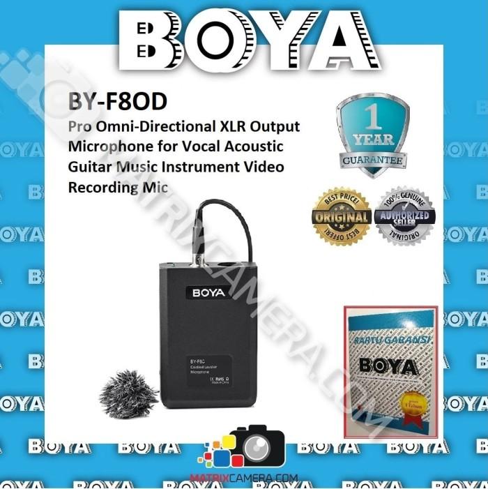 Foto Produk BOYA BY-F8D Pro Omni-Directional Microphone for music instrument vocal dari MatrixCamera