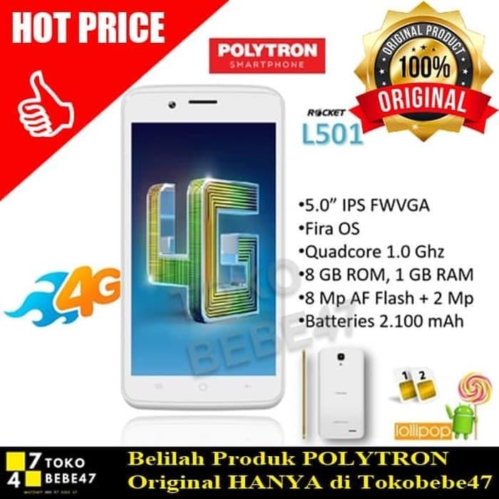 harga Sale handphone / hp polytron rocket 4gc1 l501 [ram 1gb / internal Tokopedia.com