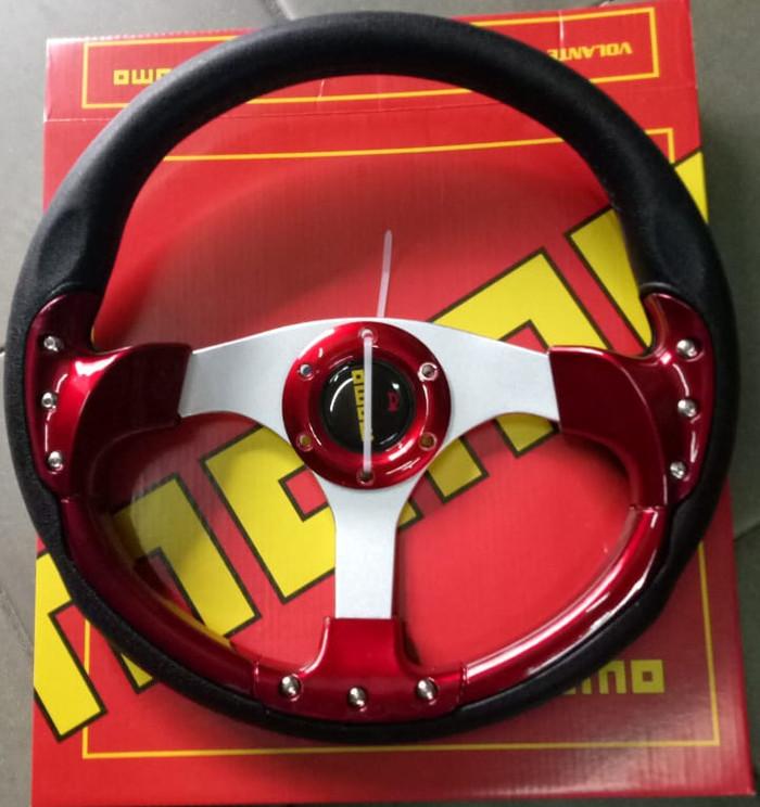 harga Stir setir momo racing size 14 inch universal merah sr178 Tokopedia.com