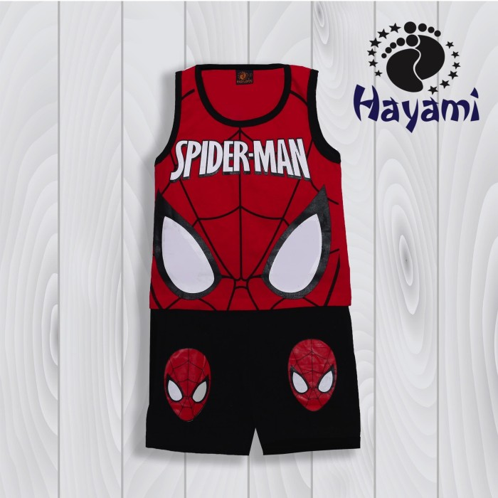 harga Baju anak laki-laki/pakaian anak - singlet spider merah uk 16/18/20 Tokopedia.com