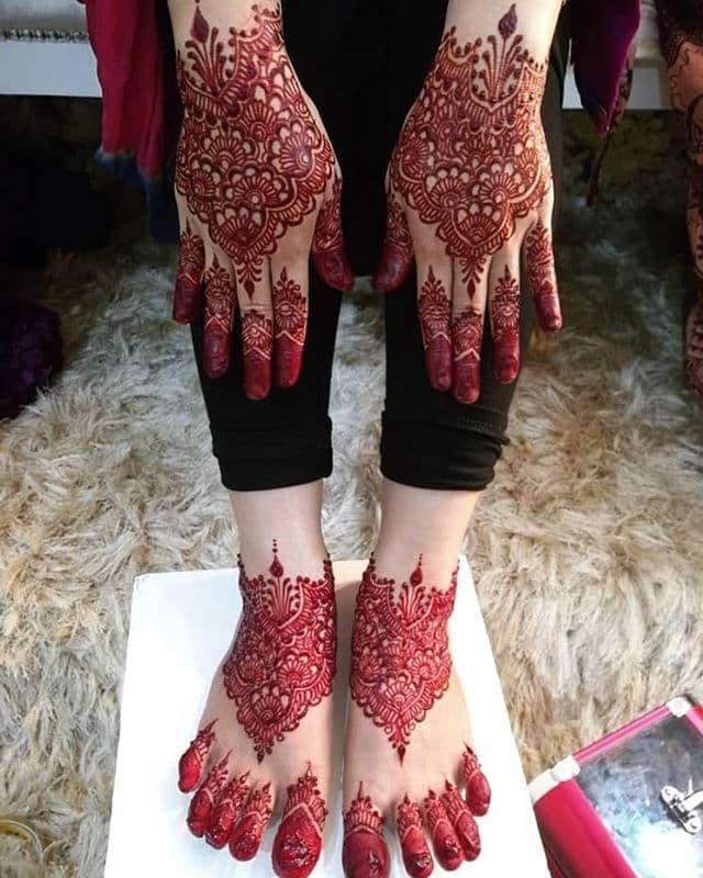 Gambar Henna Pengantin Kaki Dan Tangan