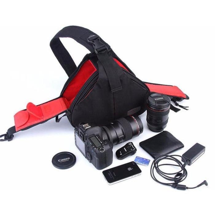 a28d237dbf5 Jual Tas Kamera Selempang dan Aksesoris Waterproof - Black - Tiga ...