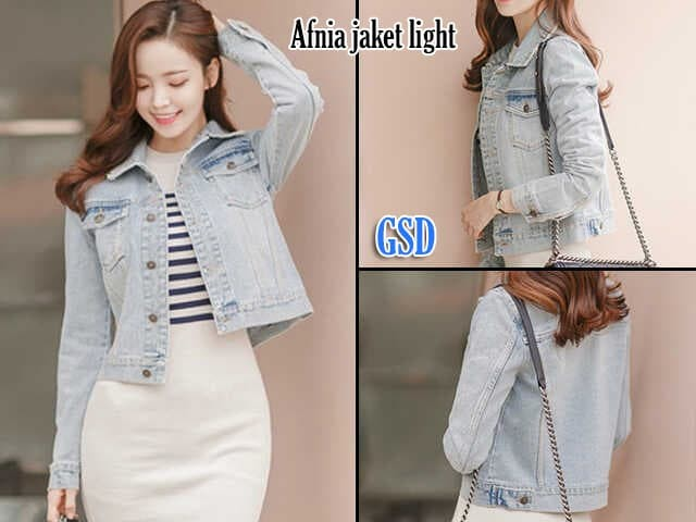 Jual afnia jaket light jaket jeans denim sweater jeans denim atasan ... ad70b073d3