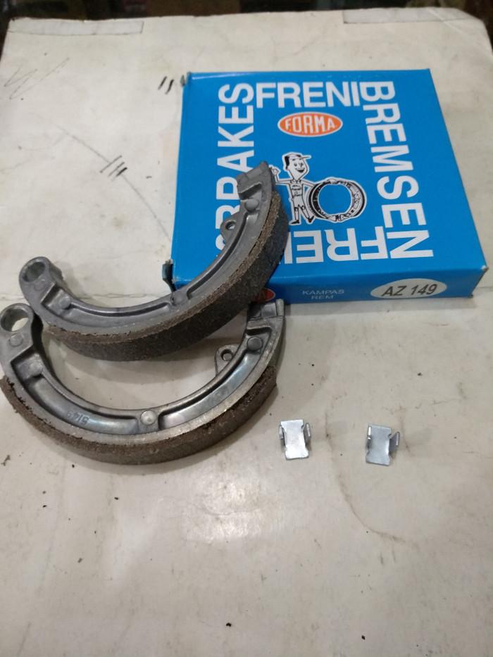 harga Kampas rem depan vespa 61 62 super ps bajaj 90cc 100cc(az149) forma Tokopedia.com