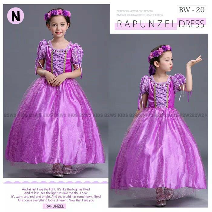 harga Gaun pesta anak rapunzel 2 - 7 tahun - kostum princess anak Tokopedia.com