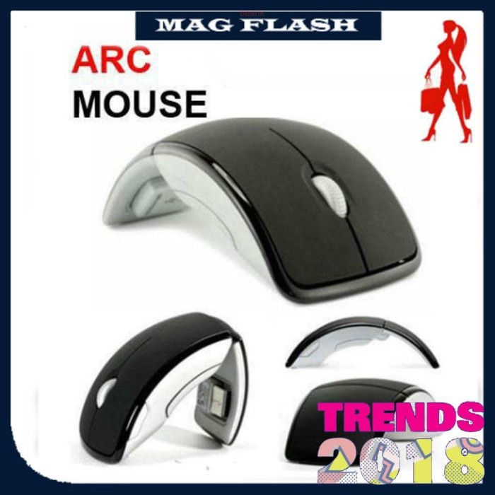 ARC MOUSE FOLDABLE WIRELESS MOUSE FOR LAPTOP NOTEBOOK PC COMPUTER