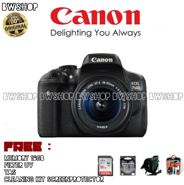 harga Canon eos 750d kit 18-55 f/3.5-5.6 is stm Tokopedia.com