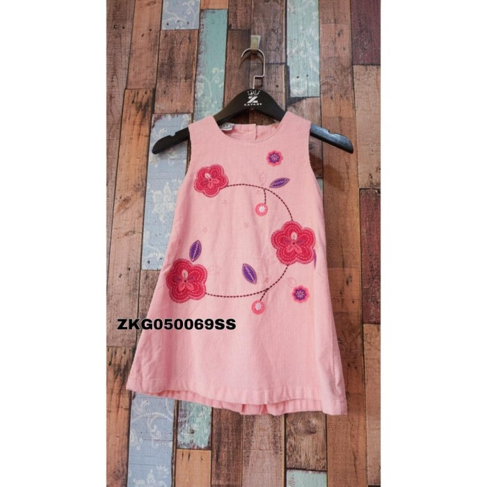 Dress Import Anak Perempuan Import Murah Bunga Baby Pink