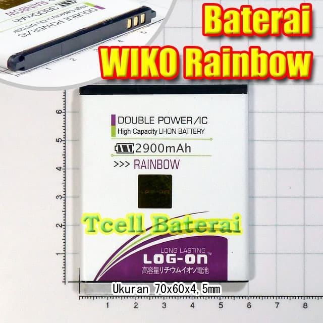 harga Baterai wiko rainbow log on batre batere batrai battery Tokopedia.com