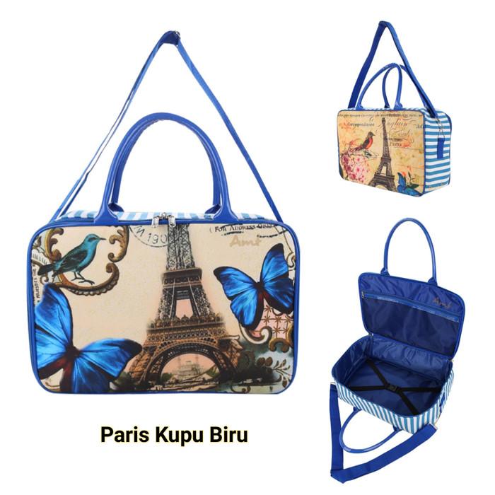 04839b066042 Tas travelbag kanvas besar komplit series paris kupu biru