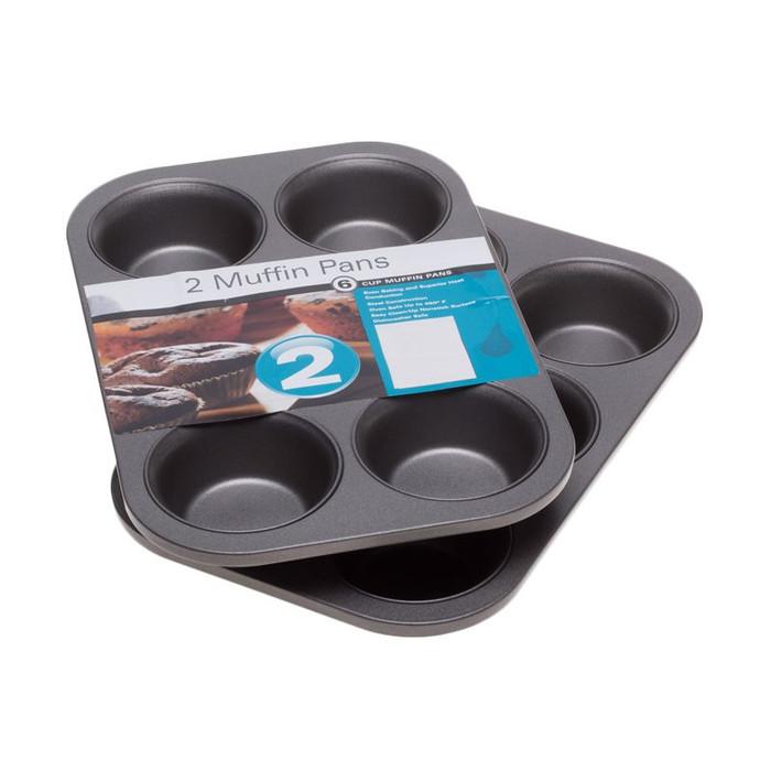 harga Cooks habit muffin pan 6 cup loyang kue [3 inch/2 pcs] Tokopedia.com