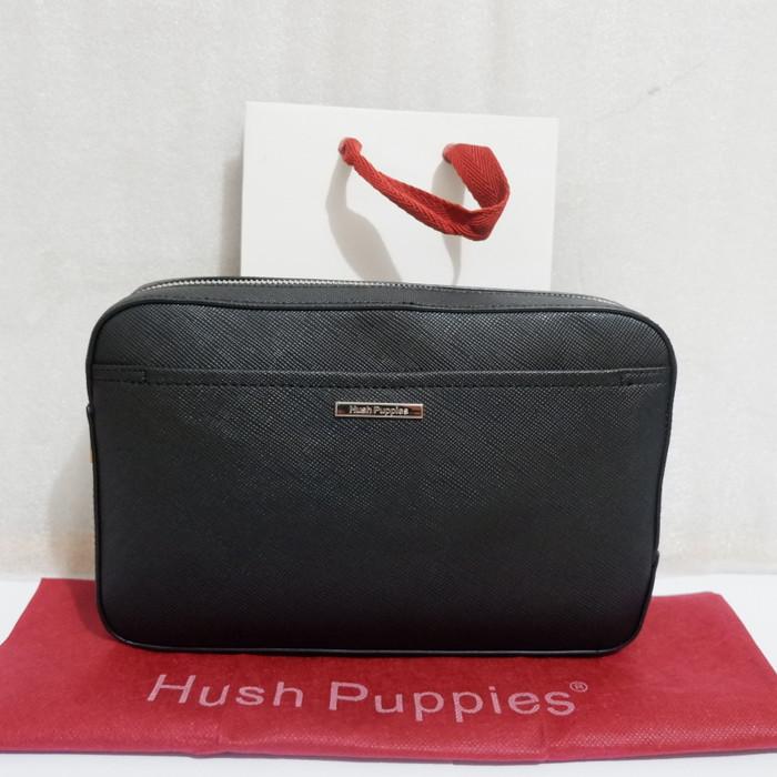 Jual TAS CLUTCH HUSH PUPPIES PRIA ORIGINAL COUNTER THP11 HITAM ... f44d622120