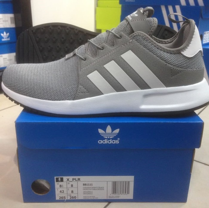 Jual Sepatu Sneaker adidas Originals XPLR Grey BB1111 - Abu-abu Muda ... f3d6137ced