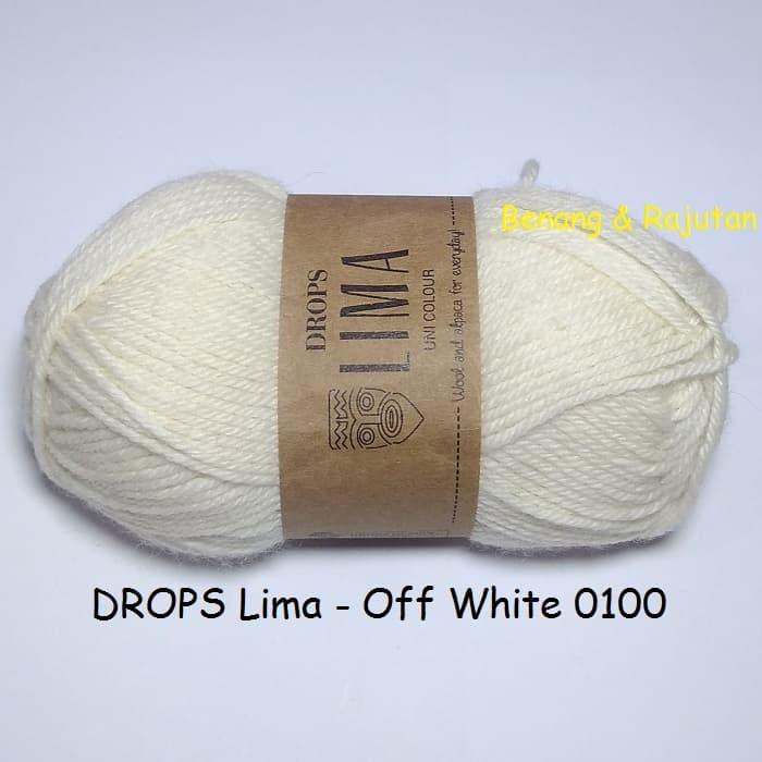 harga Drops lima putih - benang rajut import wool alpaca impor wol Tokopedia.com