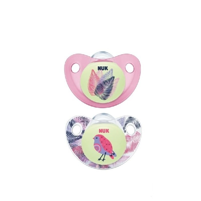Nuk trendline night & day silicone soother size 2 - pink