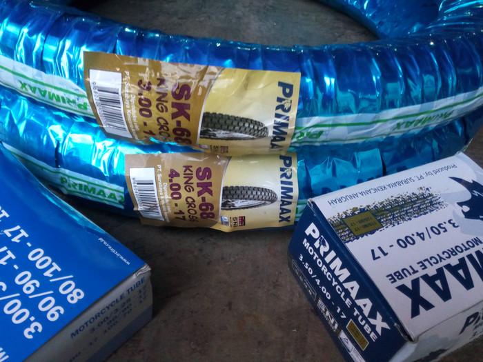 harga Paket primax king cross sk68 3.00-17 dan 4.00-17 plus ban dalam Tokopedia.com