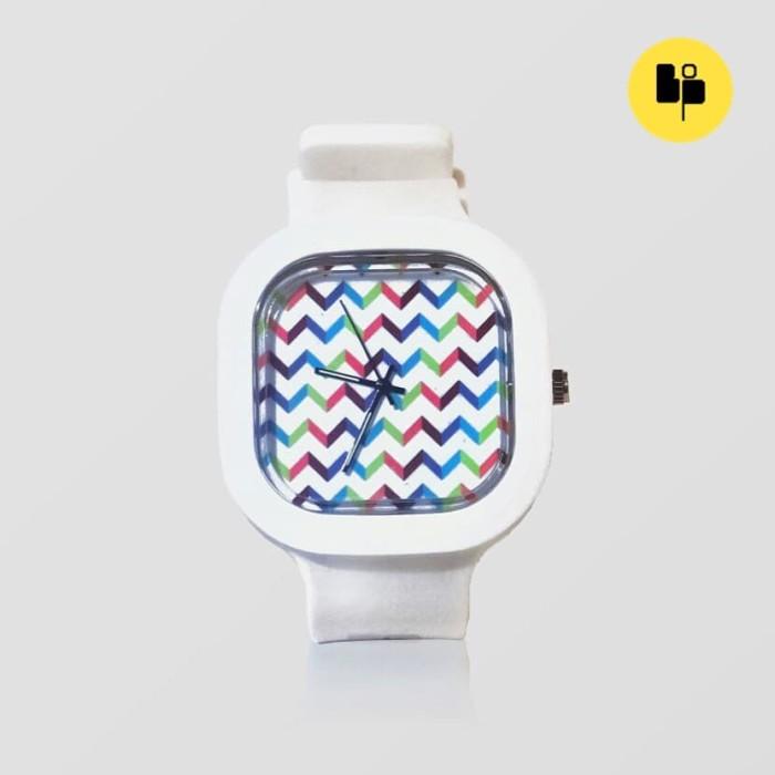 Jual Jam Tangan Band Of Pixels Zig Zag Zoom Dial Dan Strap Putih