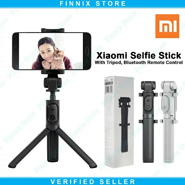 Xiaomi Mi Selfie Stick Tongsis With Tripod Bluetooth Remote Control - Hitam