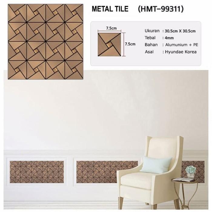 new hyundae metal tile sticker hmt 99311 antique bronze - 30cm x 30cm