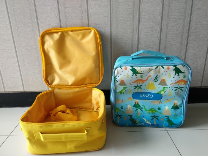 tas koper anak printing medium dengan tali panjang souvenir ultah