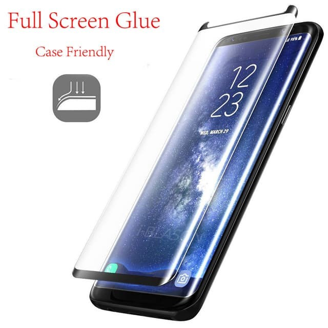 Foto Produk Samsung s8/s8 Plus/s9/s9 Plus Full Glue Tempered Glass Anti Gores Kaca dari 4K