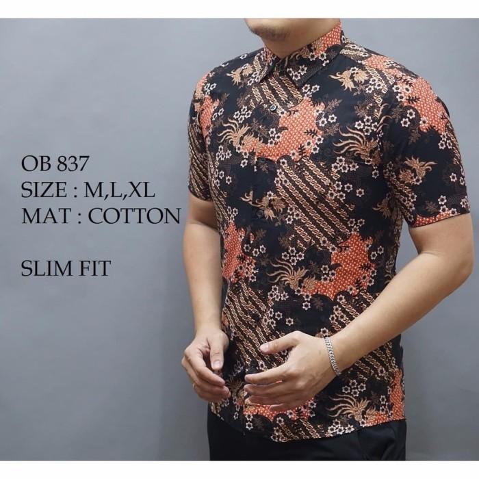 Jual Promo Lebaran Baju Batik Pria Kemeja Pria Lengan Pendek Modern Model Milyarda Laris Tokopedia