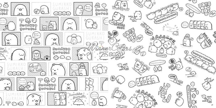 Jual Sumikko Gurashi Coloring Book Buku Mewarnai Dewasa Jepang