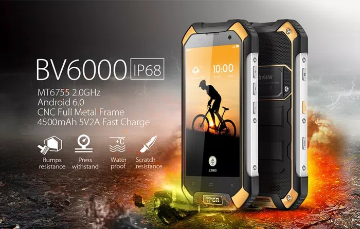 harga Blackview bv6000 32gb 4g lte hp tahan air sepeda hp outdoor gunung Tokopedia.com