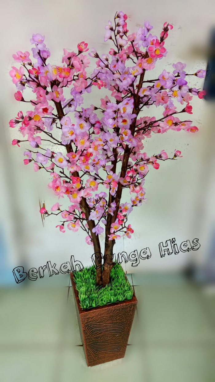 Jual Bunga Sakura Plastik 1meter Kota Depok Berkah Bunga Plastik