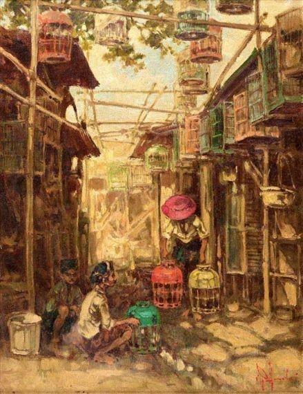 harga Lukisan pemandangan pasar burung Tokopedia.com