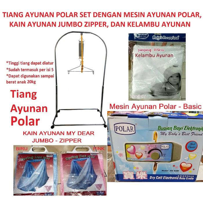 harga Tiang ayunan polar set dgn mesin ayunan, kain ayunan jumbo, kelambu Tokopedia.com