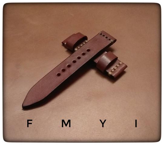harga Tali jam tangan kulit asli - motif line stitch Tokopedia.com