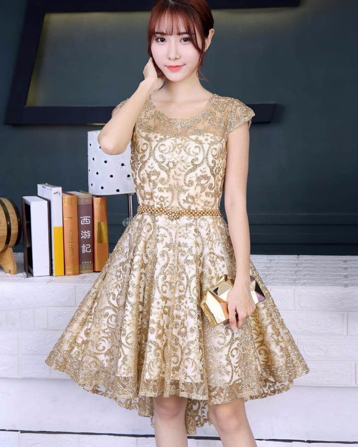 harga Golden blink dress Tokopedia.com