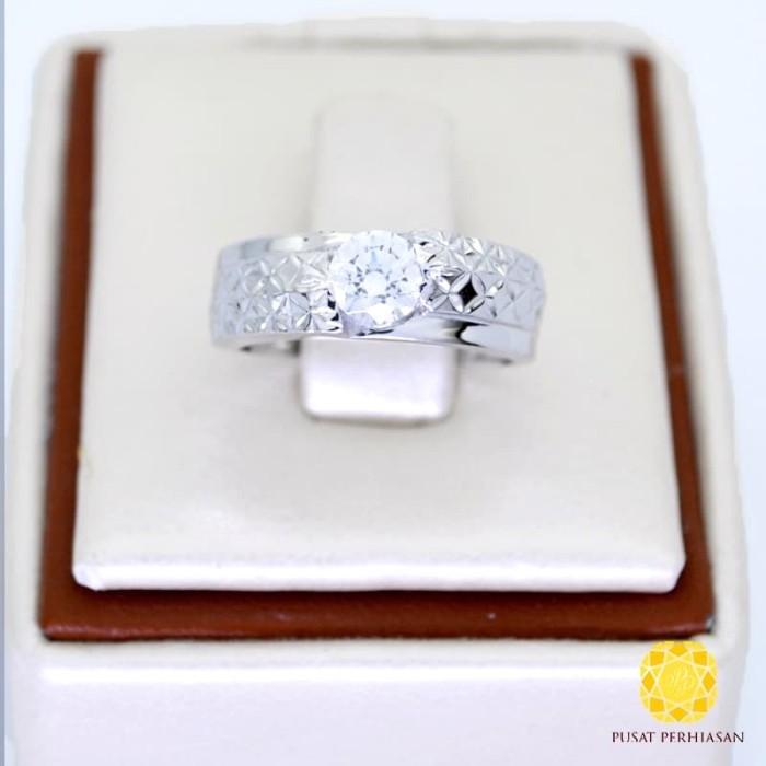 Jual Cincin Tunangan Emas Putih Berlian 0 1ct Asli 750 Karat Model Wanita Merah Muda 8 Jakarta Timur Pusatperhiasancom Tokopedia
