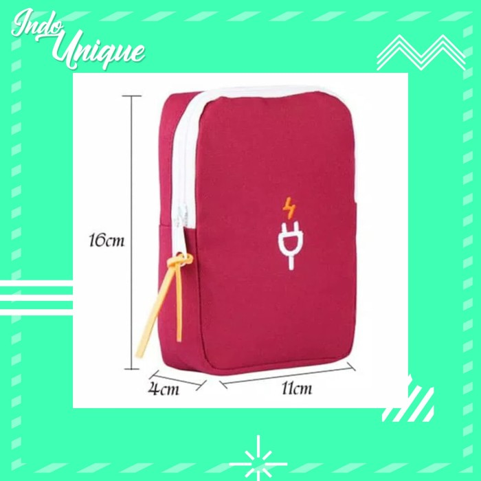 Cable Travel pouch Dompet Powerbank Earphone Charger dll