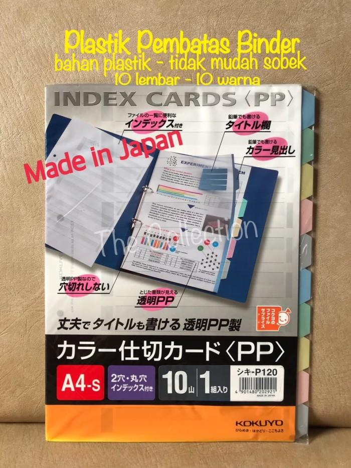 Foto Produk ATK0546KY A4 Plastik Pembatas Map Binder Index Cards Kokuyo P120 dari KC Wholesale
