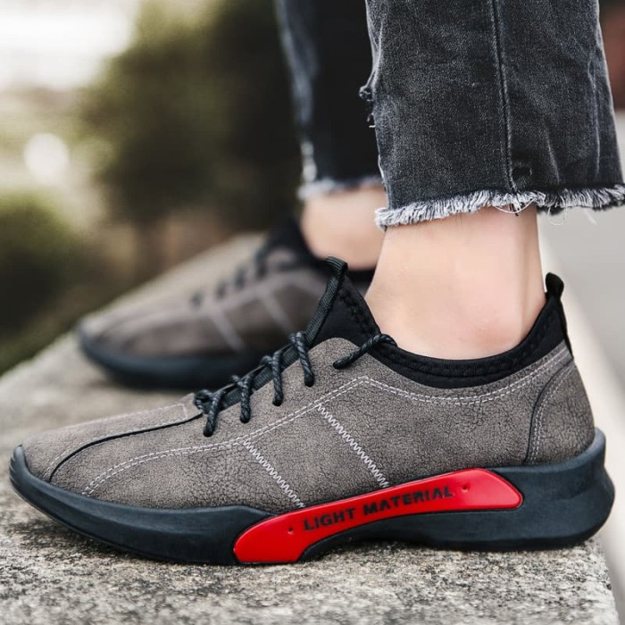 Sepatu Sneaker Cowok Korea Murah Impor Olive To Action Style Casual