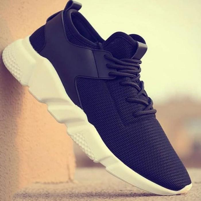 Sepatu Sneaker Cowok Korea Murah Impor X Black Casual Sekolah Gaya - Blanja.com