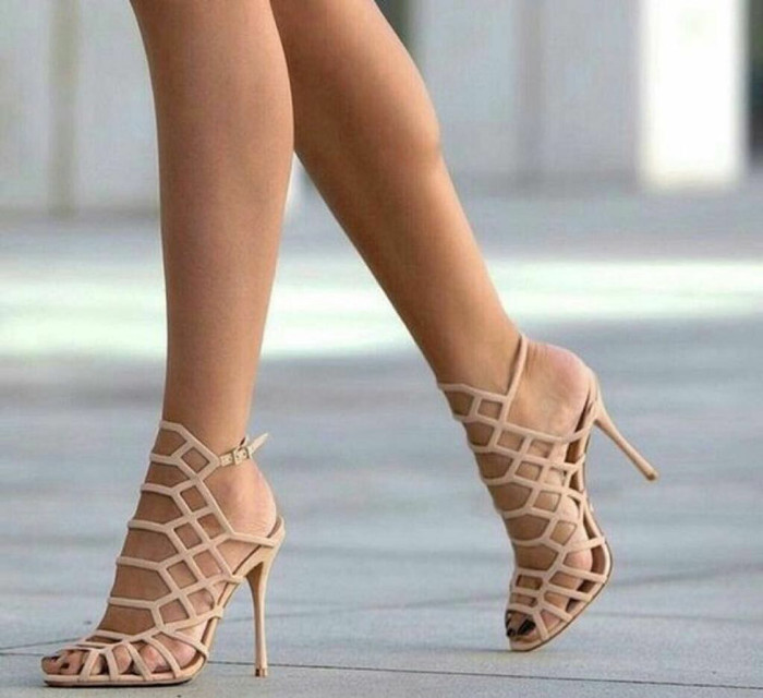 MADDEN GIRL DIRECT CAGE NUDE SANDALS