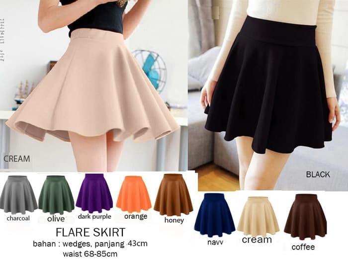 harga Flare skirt Tokopedia.com