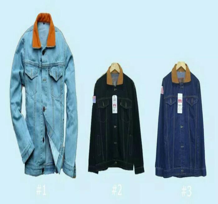 ... harga Jaket levis jaket jeans pria jaket dilan biru langit garmen biowash Tokopedia.com