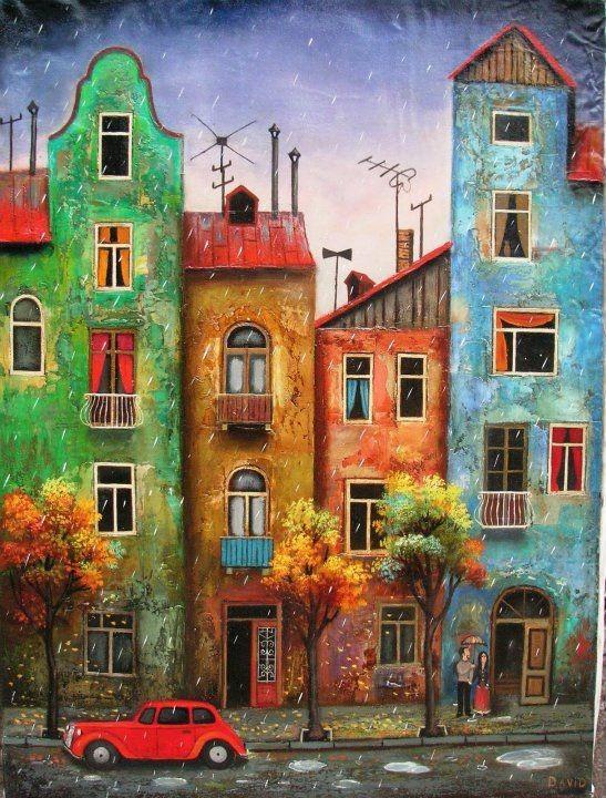 840 Lukisan Pemandangan Kota Yang Mudah Gratis Terbaik